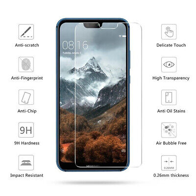 Tempered Glass Screen Protector For Huawei PSmart 2019 P20 P30 P40 Lite Pro • 1.95£