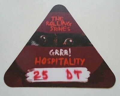 THE ROLLING STONES Grrr! Tour Hospitality Pass 02 Arena 2012 Unused • 25£