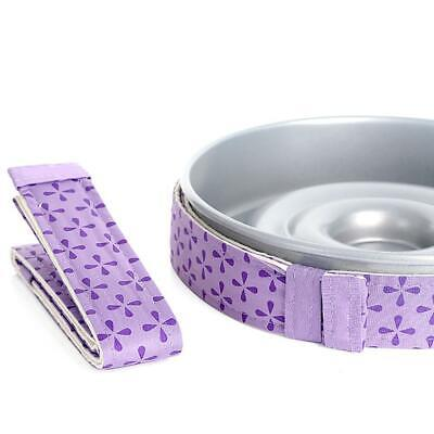 WILTON BAKE-EVEN STRIPS PURPLE - Bake Moist Level Cakes Time- Every W7D6 U6V3 • 2.07£