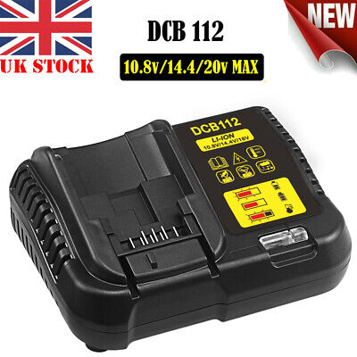 DCB112 Lithium Battery Charger Replace For Dewalt DCB118 DCB115 10.8V-20V Max 2A • 17.98£