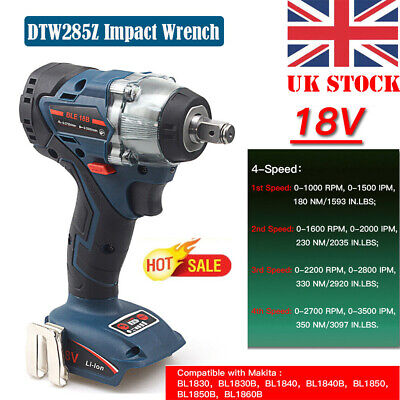 Replacement For Makita DTW285Z 18V LXT Brushless 1/2in Impact Wrench Power Tools • 56.89£