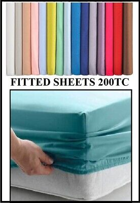 IKEA DOUBLE SIZE (55 X 78  X 15 ) 140cm X 200cm FITTED Sheet (Over 20 Colours)  • 10.99£