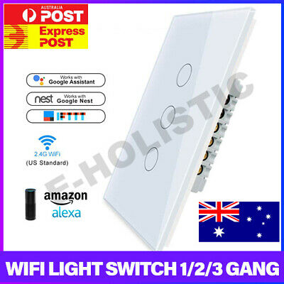 AU28.95 • Buy Smart Home WiFi Panel Touch Switch Wall Control Light For Alexa Google Home AU