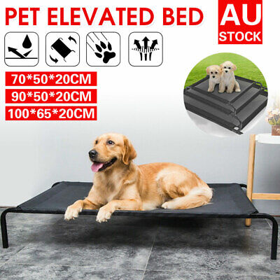 AU25.90 • Buy Heavy Duty Pet Dog Cat Bed Trampoline Hammock Canvas Cover Indoor/Outdoor M L XL