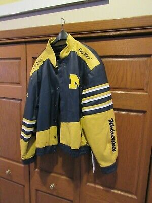 £163.26 • Buy NWT Michigan Wolverines NCAA Jacket Leather Gallery Men's Size XL New GO BLUE