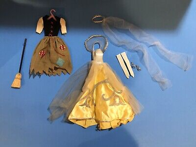 $ CDN105.75 • Buy Vintage Barbie Doll Cinderella #0872 Rich & Poor Outfit W Clear Glitter Shoes !