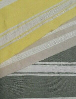 Striped Viscose / Cotton / Polyester Fabric - Sold By The Metre • 2.75£