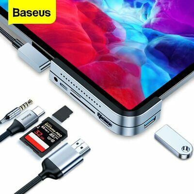AU56.69 • Buy Baseus 6in1 USB C HUB USB3.0 HDMI PD Ethernet Adapter Splitter For Macbook Pro