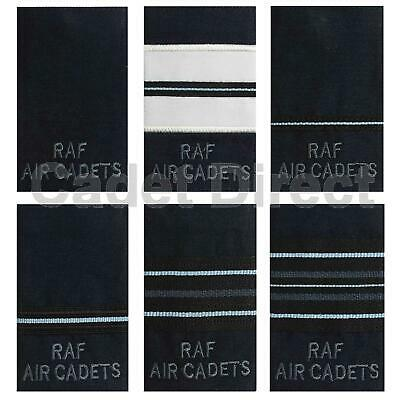 RAF Air Cadets Officers Rank Slides, GP Jacket Blue With Grey Text • 5.95£