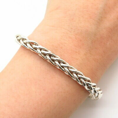 $45.99 • Buy 925 Sterling Silver Italy Thick Foxtail Link Bracelet 6 3/4