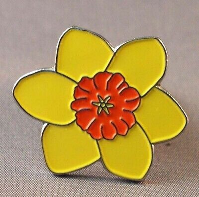 £2.65 • Buy Daffodil Metal Enamel Pin Badge Brooch( For Cancer Care)