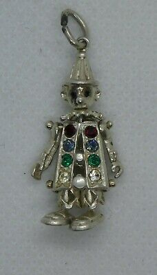 30mm Silver Yellow Plated Clown Charm