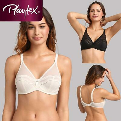 Playtex Secret Comfort Underwired Bra P09AV Black Or Antique White • 22.99£