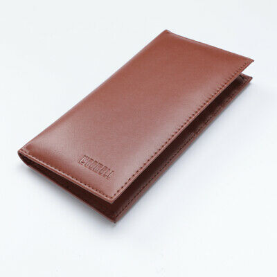 $7.35 • Buy New Leather Checkbook Cover Card Holder Wallet W/ ID Window Unisex RFID Blocking
