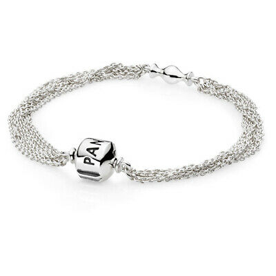 Authentic Pandora Multi Strand 7.5  Bracelet One Clip Barrel Lock #591701-19 F/s • 73.33£