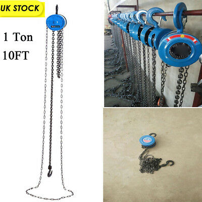£26.15 • Buy 1 TON Chain Hoist Block And Tackle Winch Capacity Engine Lift Puller Fall