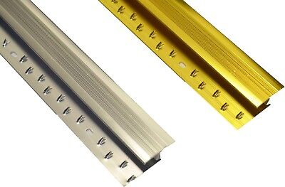 Carpet To Wood Tile Metal Strip Door Plate Z Trim Threshold Silver / Gold 900mm • 2.99£