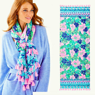 $29.66 • Buy New Lilly Pulitzer Resort Multi Island Escape Engineered Scarf Wrap