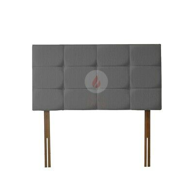 Bed Headboard Cubed Chenille Bed Head | Kingsize | Double | Single | Superking • 37.99£