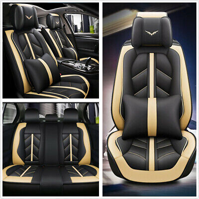 $ CDN188.07 • Buy Deluxe Edition Car Seat Cover Cushion 5-Seats Front+Rear Breathable PU Leather