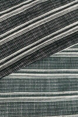 Melange And Striped Cotton Viscose Fabric- Sold By The Metre • 2.89£