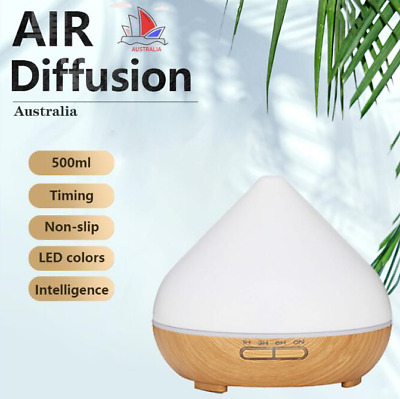 AU28.70 • Buy Essential Oil Aroma Diffuser LED Ultrasonic 500ml Air Aromatherapy Humidifier