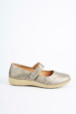 Ladies Pewter Dr Lightfoot Comfort Strap Work Wedge Shoes, SIZES 3-8  • 14.90£