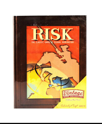$29.99 • Buy New! RISK Parker Bros. Vintage Game Collection Wooden Book Box By Hasbro (0288)