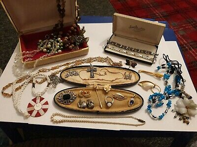 Vintage Jewellery Joblot Collection Bundle Boxes For Display • 0.99£