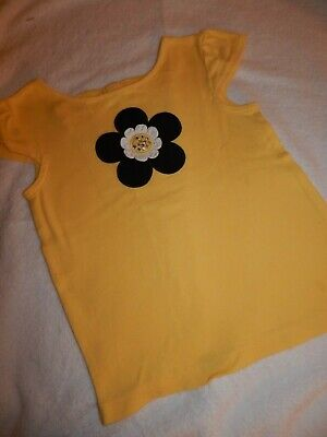 $4.99 • Buy HTF Gymboree Girls 5T BEE CHIC Yellow And Black Flower Open Back Top