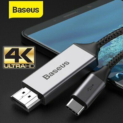 AU19.99 • Buy Baseus USB C HDMI Cable 4K Type C To HDMI Extension Adapter For Samsung Macbook