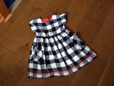 Lovely Girls Checked Dress Age 3-4 Years M&S • 0.99£