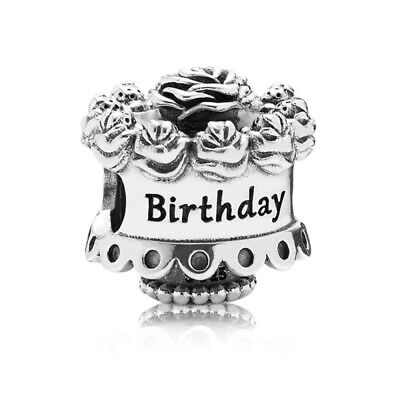 NEW PANDORA GENUINE SILVER Happy Birthday Celebration Cake CHARM S925 ALE 791289 • 17.49£