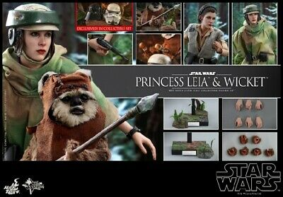 $ CDN294.23 • Buy Hot Toys 1/6th Star Wars VI Princess Leia & Wicket Set Action Figure MMS551 Toys
