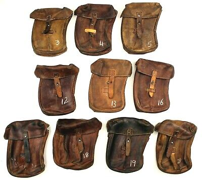£15.79 • Buy Genuine Czech Army Leather Curved Ammo Pouches *pick Your Own*