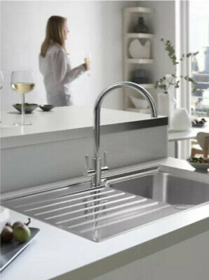 Franke Ascona ASX 611-860 Kitchen Sink 1.0 Bowl Reversible With Waste 80704003 • 50£