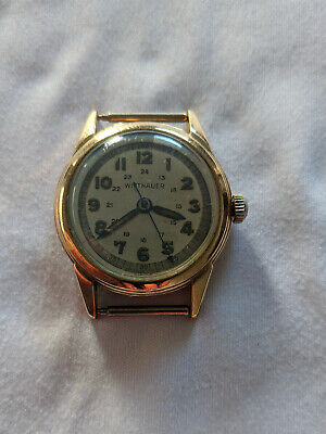 $ CDN150 • Buy Rare Vintage Military Wittnauer (Longines) 10TS Gold Case Sweep Second Working