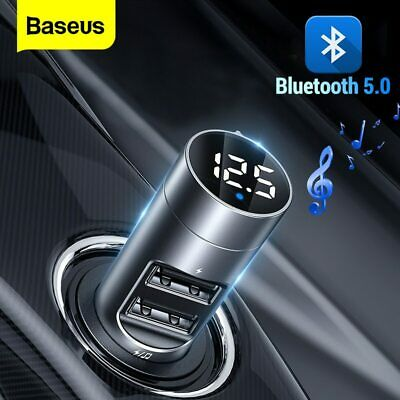 AU22.79 • Buy Baseus FM Transmitter Wireless Bluetooth 5.0 Car Kit MP3 Player Dual USB Charger