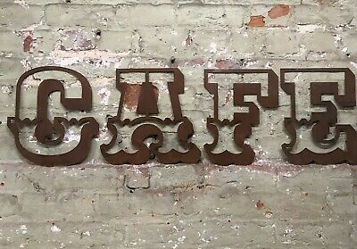 £47.99 • Buy Rusty Rustic CAFE Lettering Letters Signage Metal 12  Shop Sign Canival Funfair