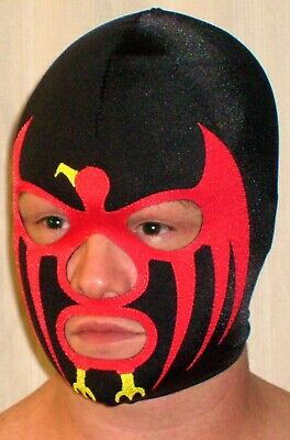 $107.99 • Buy Black Red Sunbird Spandex Pro Wrestling Gear Mask Costume