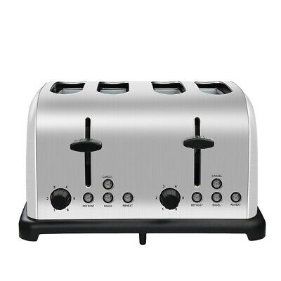 AU59.99 • Buy Electric 4 Slice Toaster Stainless Steel Automatic Extra Wide Slots Crumb Tray