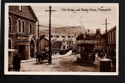 Pontypridd - Old Bridge And Bridge Street - Printed Postcard • 14£