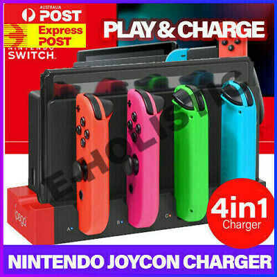 AU28.95 • Buy Joy Con Controller Charging Stand Dock Charger Nintendo Switch Animal Crossing