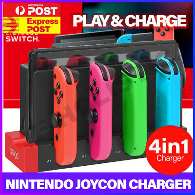 AU28.95 • Buy 4 IN 1 JoyCon Charger Charging Dock Stand For Nintendo Switch NS Animal Crossing