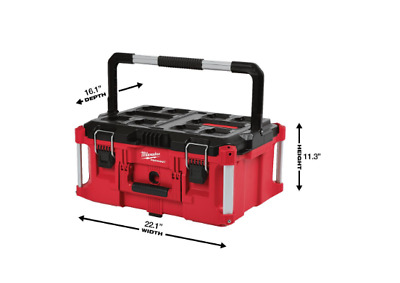 View Details Packout 22 In. Large Tool Box  Milwaukee Storage Organizer Portable Electric • 105.59$