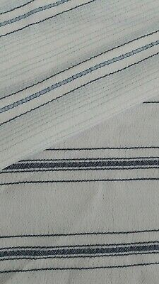 Striped Viscose/cotton Mix Fabric - Sold By The Metre • 2.89£