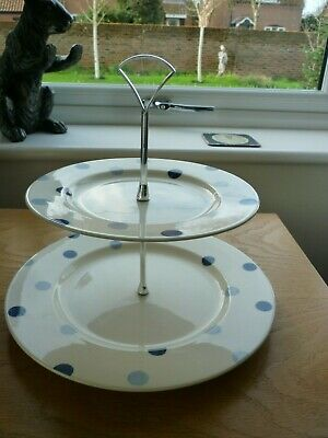 £29.99 • Buy Fairmont & Main Blue Spot 2 Tiered Cake Stand Excellent Condition