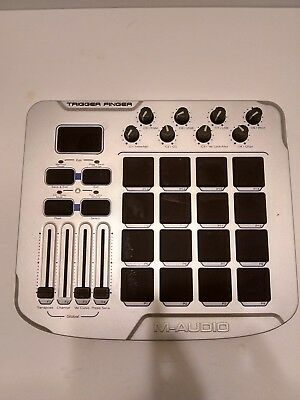 $40.99 • Buy M-Audio Trigger Finger 16 Channel USB Midi Controller, Used, Gray