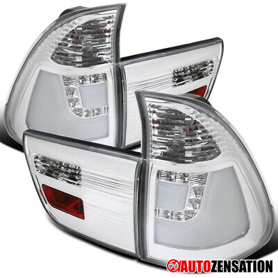 $147.99 • Buy For 2000-2006 BMW X5 LED Clear Lens Tail Lights Brake Lamps W/ Neon Tube DRL