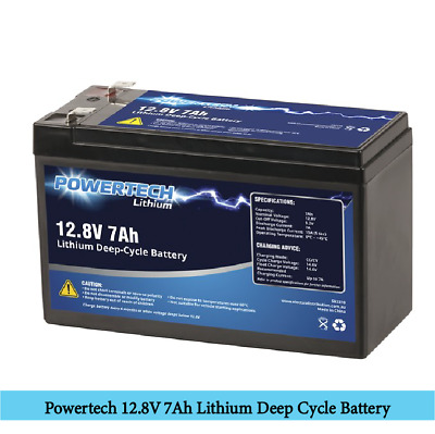 AU78.99 • Buy Powertech 12.8V 7Ah Lithium Deep Cycle Battery